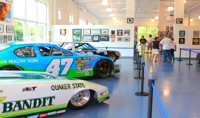 Race Cars at Curb Motorsports Museum in Concord, North Carolina