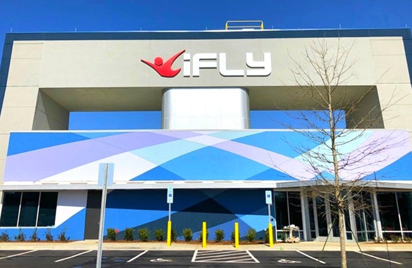 iFly building in Concord, NC