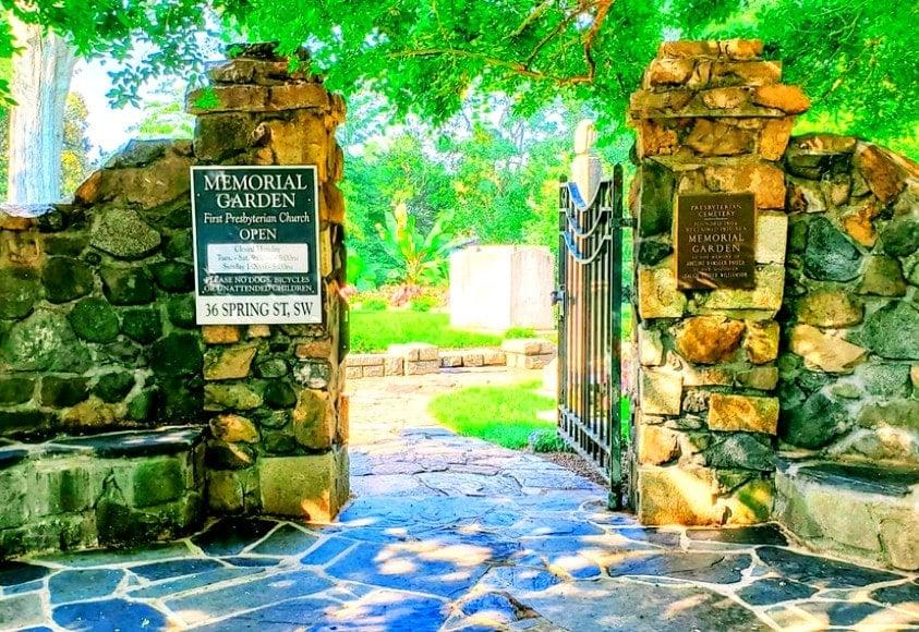 Entrance to Memorial Gardens in Concord, North Carolian