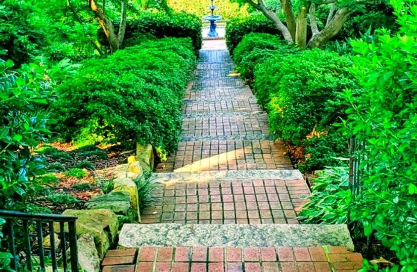 Steps at Memorial Gardens Concord NC