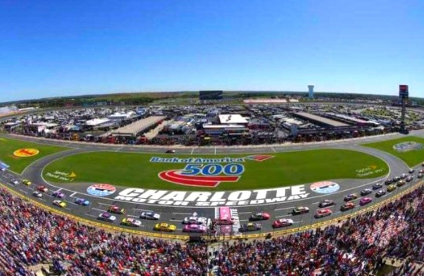 NASCAR Race at Charlotte Motor Speedway in Concord, NC