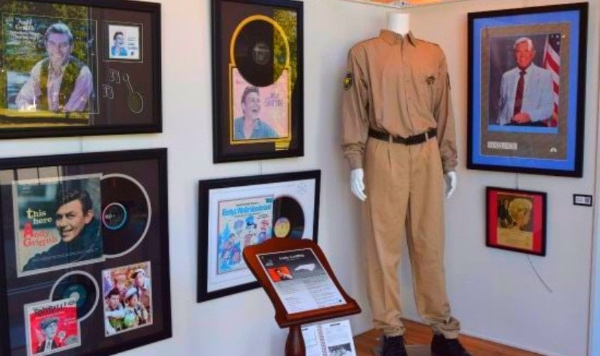 Andy Griffith booth NC Music Hall of Fame, Concord NC