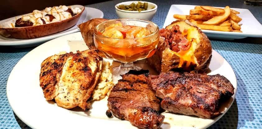 Clarksville Station in Roxboro, NC Steak Platter