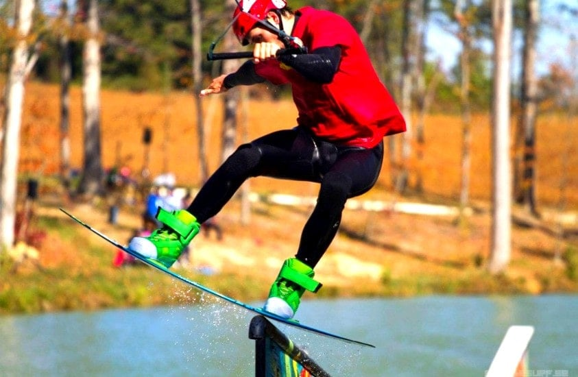 Wake Board jump at Jibtopia Wake Park in Semora, NC