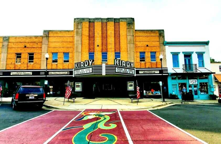 The Kirby Movie Theater in Roxboro, NC