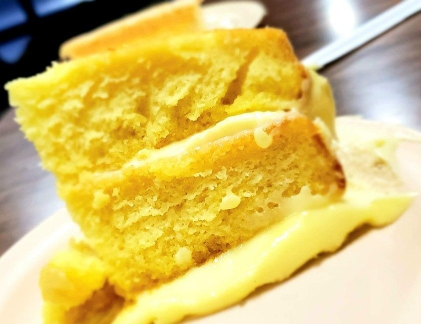 A slice of Lemon Cake from The Timberland Restaurant