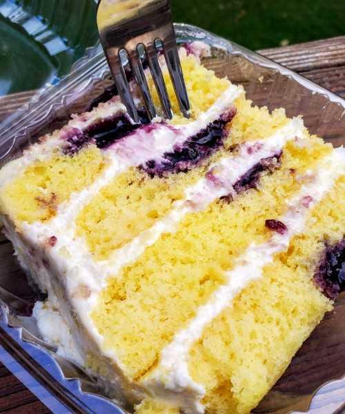 O'Kelly's Deli & Pastries Lemon Blueberry Cake