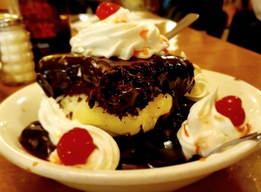 Hot Fudge Cake from the Homestead Steakhouse in Roxboro, NC