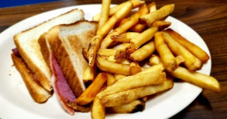 Country Ham Sandwich at Timberland Restaurant, Roxboro, NC