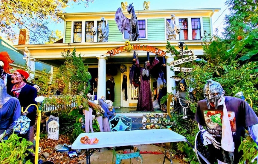 Historic Oakwood In Raleigh, NC at Halloween