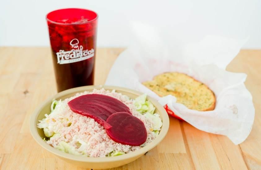 Fredrico's Salad and Garlic Bread