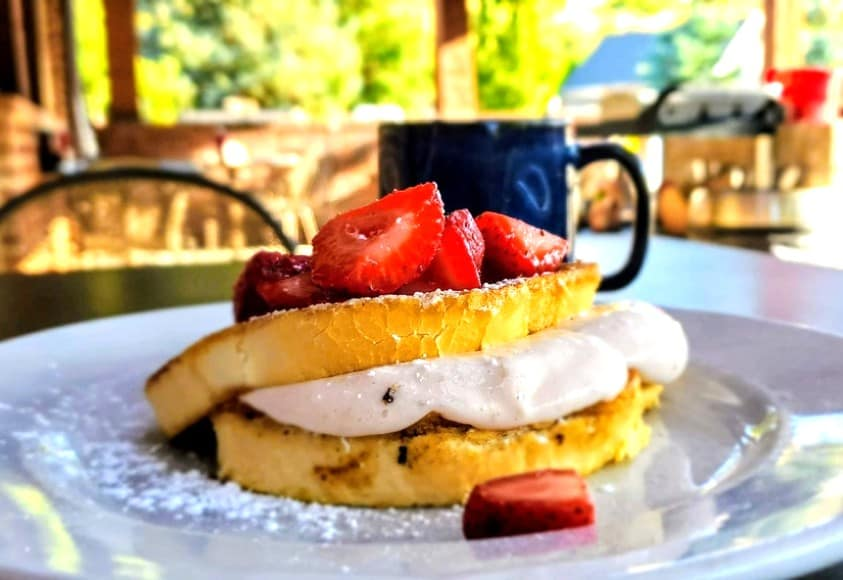 Strawberry French Toast at Herm's Inn in Cache Valley Utah