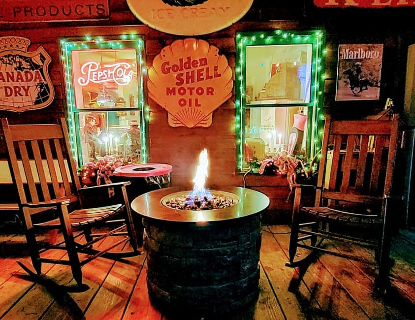 Old Fashioned Christmas Country Store Fire pit