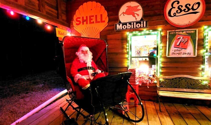 Santa Claus in Sleigh at Old Fashioned Christmas