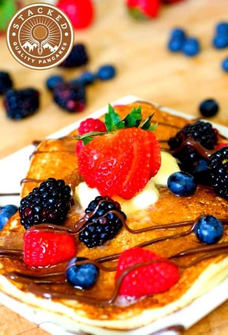 Fruit Pancakes From Stacked in Logan, Utah