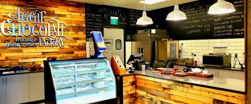 The Chocolate Factory menu in Logan, Utah