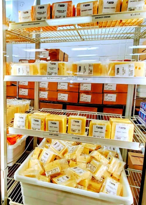 Cheese from Gossner's Foods Outlet Store in Cache Valley, Utah