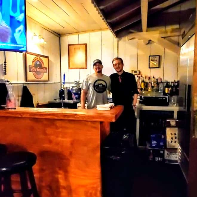 Chef Jarren Winston and Bar Tender at Clarksville Station Roxboro, NC