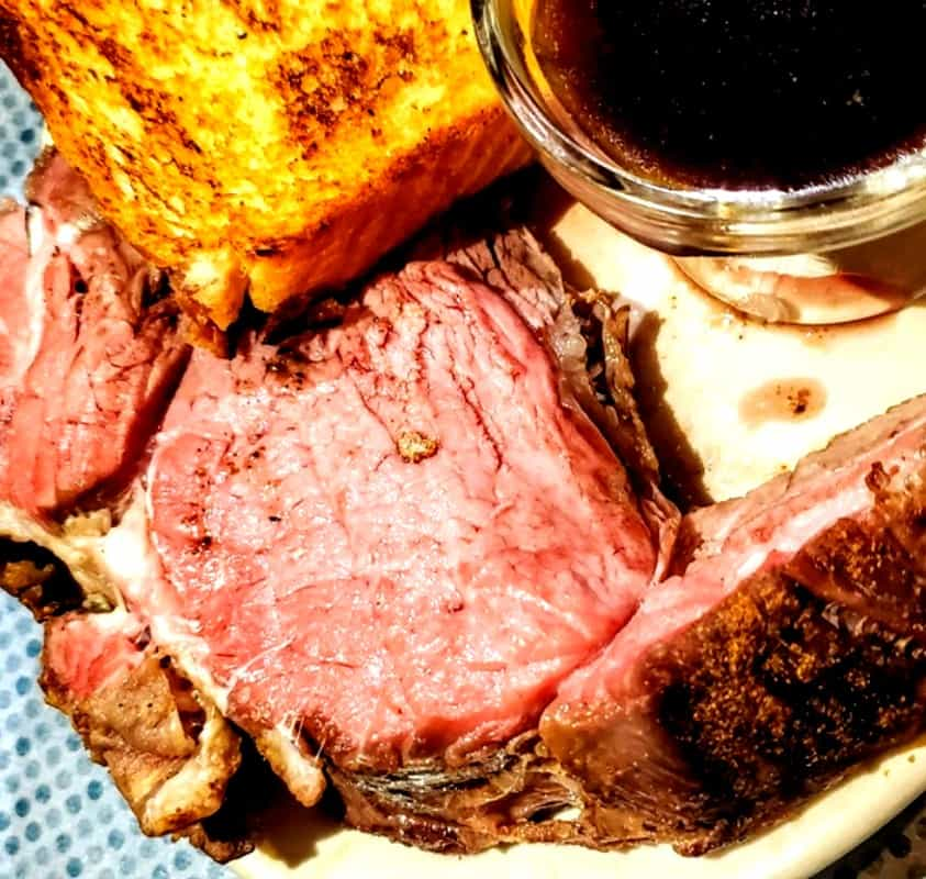 Prime Rib with Au Jus and Baked Potatoe from Clarksville Station