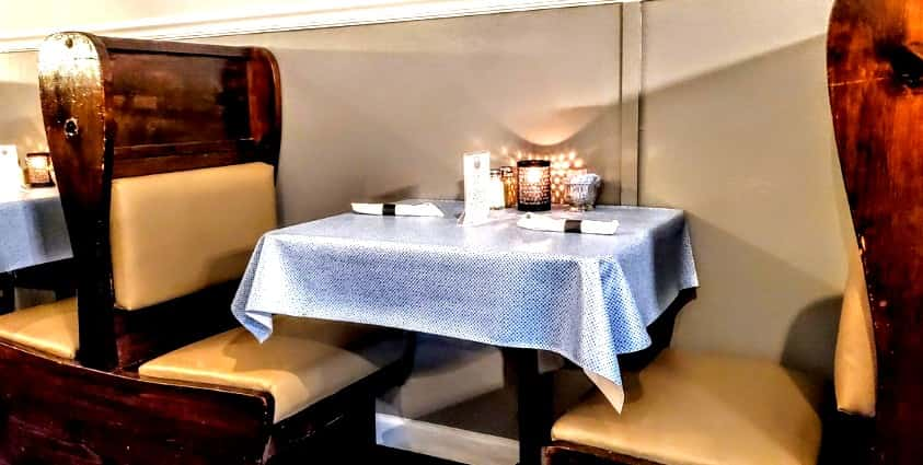 Dining Table at Clarksville Station Restaurant in Roxboro, CC