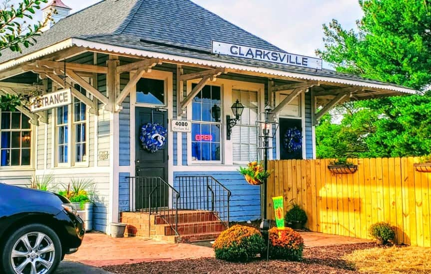 Clarksville Station Roxboro, NC Bryan Day owner outside