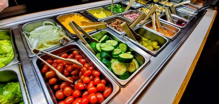 Salad Bar at Clarksville Station in Roxboro, NC
