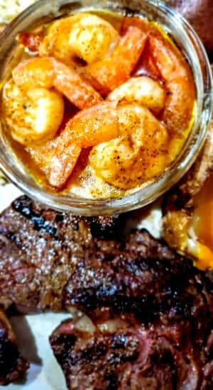 Steak and Shrimp from Clarksville Station in Roxboro, NCf