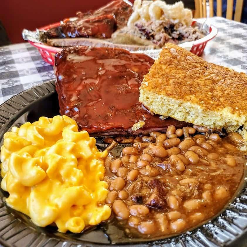 Baked Beans at Smokey Dave's BBQ Roxboro, NC