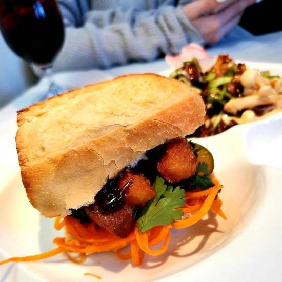 pork belly bánh mì from Koan Best Restaurants in Cary, NC