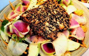 Seared Salmon Salad Koan Asian Cuisine Cary, NC