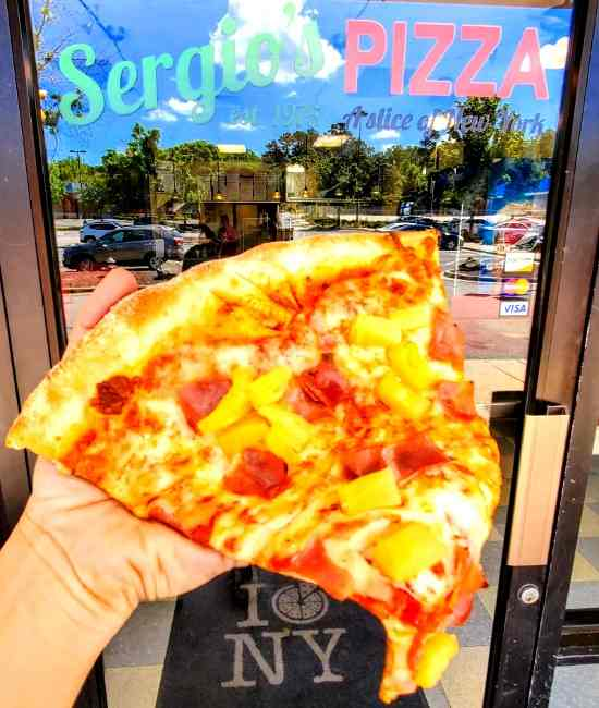 Sergio's Pizza on Neuse River Greenway Trail Raleigh