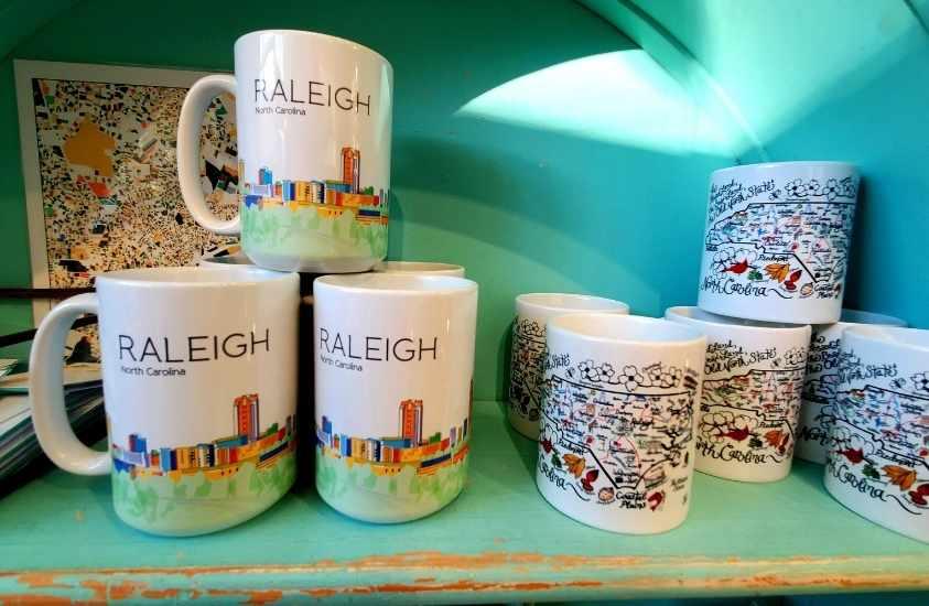 Deco Raleigh mugs NC gifts