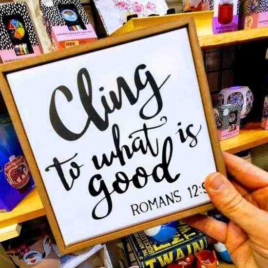 The Green Monkey Raleigh Gift Shop bible verse