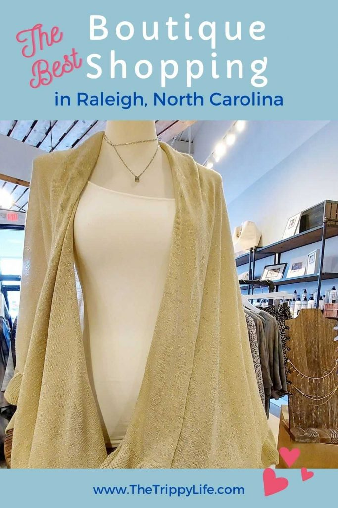 Boutique Shopping in Raleigh Pinterest Pin