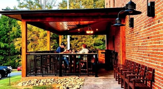 Outdoor Patio at Brookland Eats, Roxboro, NC